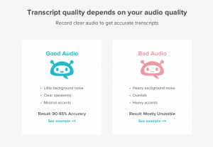 Difference between good audio and bad audio