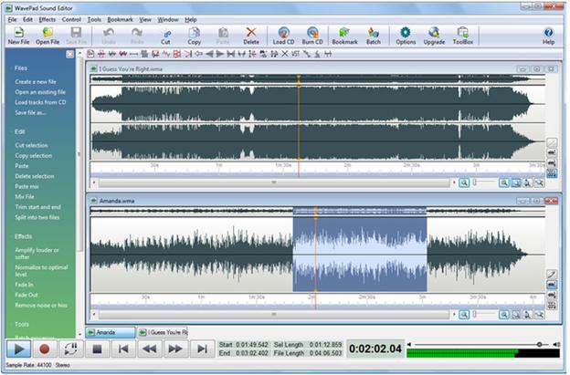 WavPad sound editor
