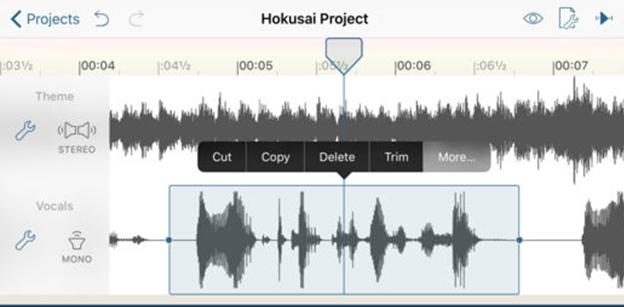 Editing app Hokusai