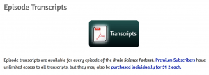 Brain Science podcast transcript