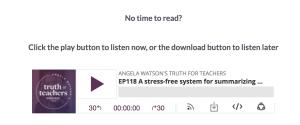 Truth for teachers podcast transcript